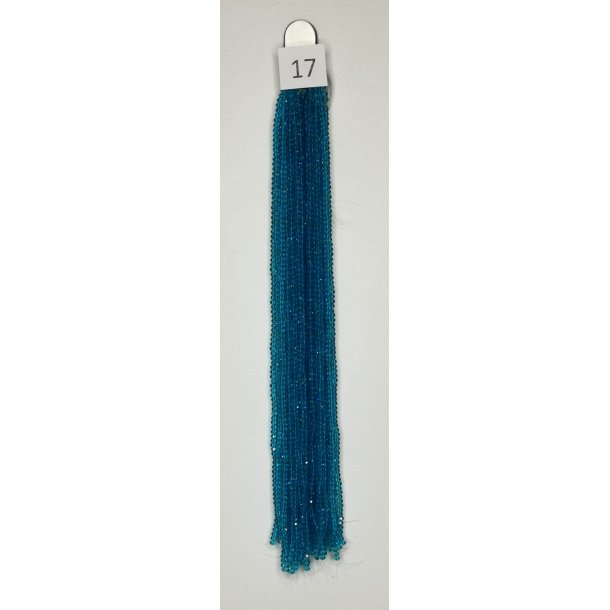 Nr. 17 Ocean Blå  Facet slebne glas perler i 4 x 6 mm.
