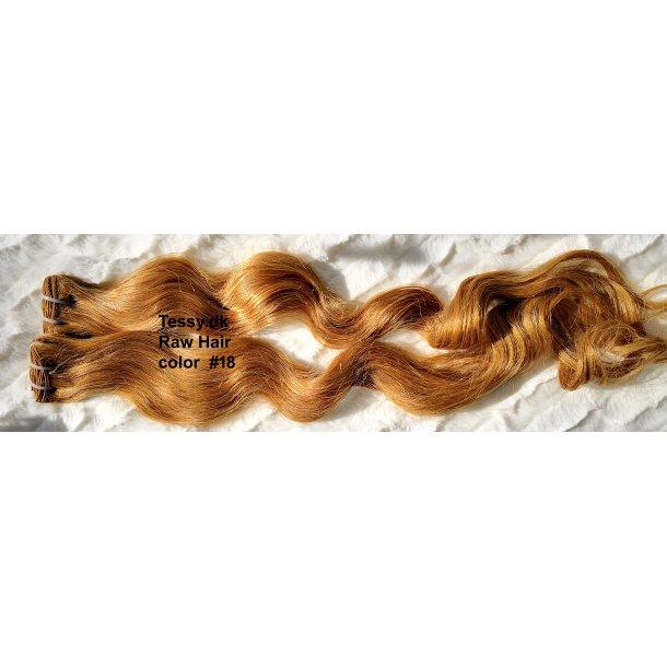 Single Drawn Raw Virgin Hair Extension 70cm ( 28 Inches ) Bodywave Hair Color #18