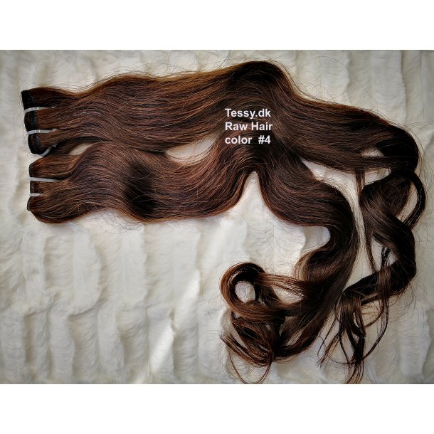 Single Drawn Raw Virgin Hair Extension 65cm ( 26 Inches ) Bodywave Hair Color #4