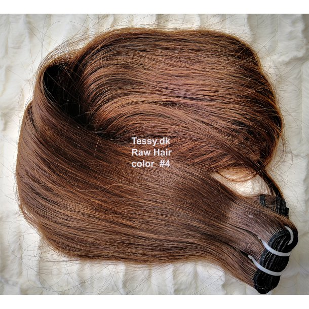 Single Drawn Raw Virgin Hair Extension 65cm ( 26 Inches ) Straight Hair Color #4