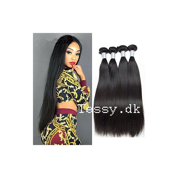 Brazilian Straight Human Hair Extension Weft Hair 75cm ( 30 Inches )