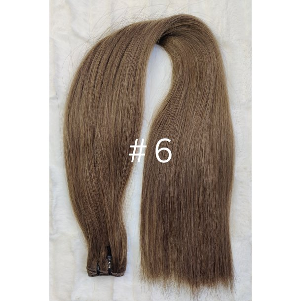 Double Drawn Luxurious Quality Brazilian Hair Extension 65cm ( 26 Inches ) Straight Hair Color #6