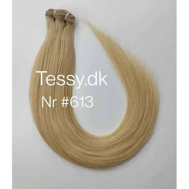 Double Drawn Luxurious Quality Brazilian Hair Extension 55cm ( 22 Inches ) Straight Hair Color #613