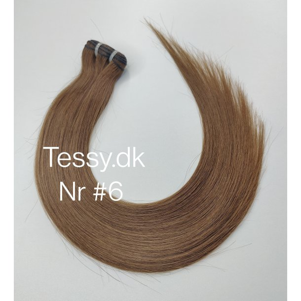 Double Drawn Luxurious Quality Brazilian Hair Extension 55cm ( 22 Inches ) Straight Hair Color  #6