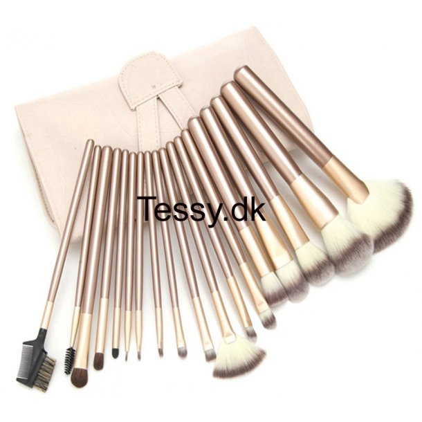 18Pcs Luxury Champagne Gold Beauty Cosmetic Makeup Brushes Set