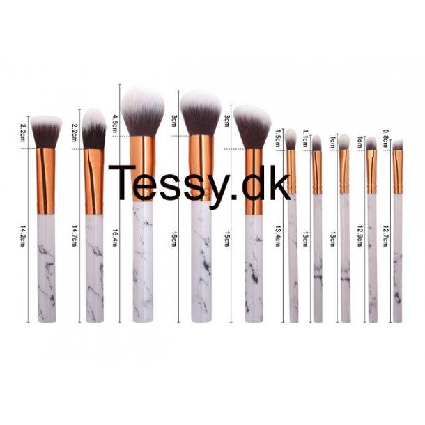 10pcs marble professional Makeup Brush set