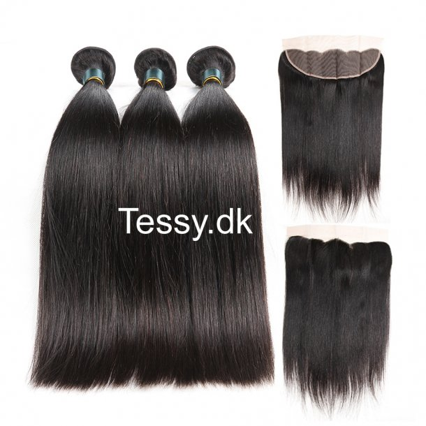 7A Peruvian Virgin Hair Straight 3Bundles With Lace Frontal  22