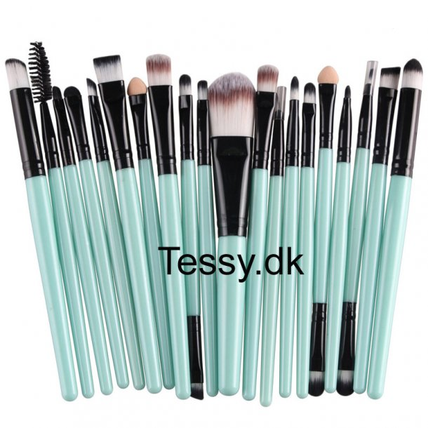 20 pcs Professional Makeup Brush green & black