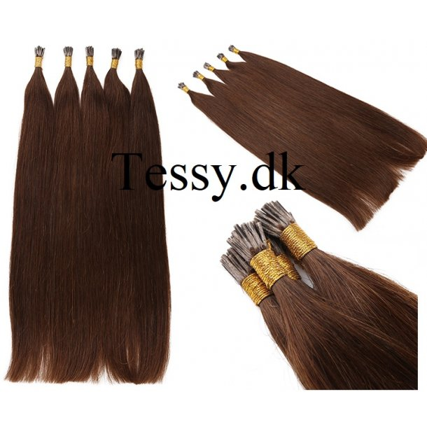 I Tip Keratin Prebonded Hair Extensions Brazilian Human Hair straight Color 4# 70cm ( 28 Inches )