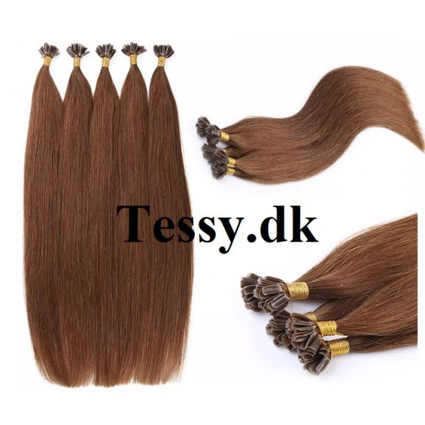 U Tip Keratin Prebonded Hair Extensions Brazilian Human Hair straight Color 6# 70cm ( 28 Inches )