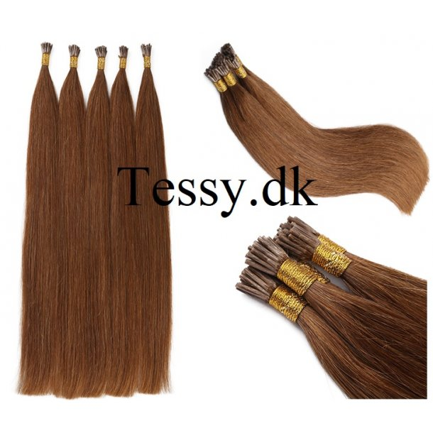 I Tip Keratin Prebonded Hair Extensions Brazilian Human Hair straight Color 6# 65cm ( 26 Inches )