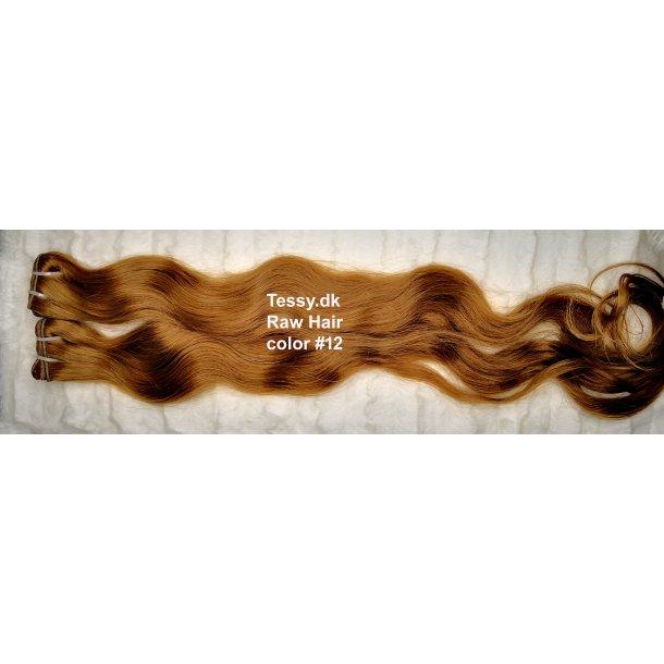 Single Drawn Raw Virgin Hair Extension 80cm ( 32  Inches ) Bodywave Hair Color #12