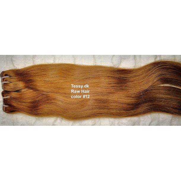 Single Drawn Raw Virgin Hair Extension 80cm ( 32  Inches ) Straight Hair Color #12