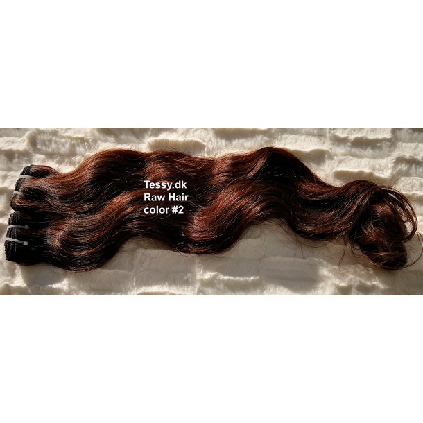 Single Drawn Raw Virgin Hair Extension 65cm ( 26 Inches ) Bodywave Hair Color #2
