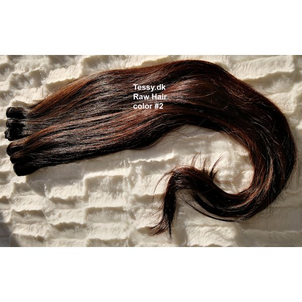Single Drawn Raw Virgin Hair Extension 65cm ( 26 Inches ) Straight Hair Color #2