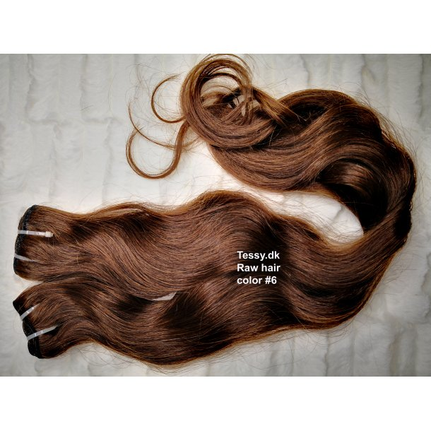 Single Drawn Raw Virgin Hair Extension 65cm ( 26 Inches ) Bodywave Hair Color #6